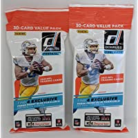 $33 » Pair 2021 Panini Donruss NFL Football 30-Card Value Fat Cello Packs (60 Cards Total) Exclusive Press Proof Blue Parallels