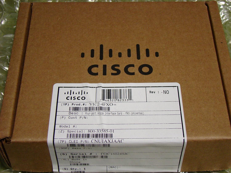 *Brand New* Cisco VIC2-4FXO 4-Port Voice Interface Card Module *Fast Ship*