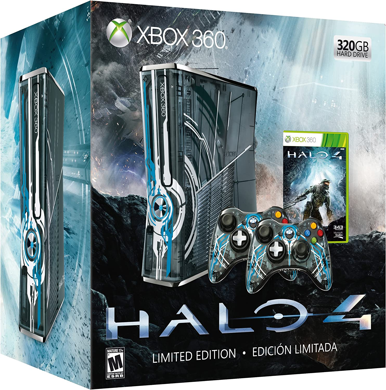 Xbox 360 - Consola 320 Gb + Halo 4 + 2 Mandos- Edición Limitada ...