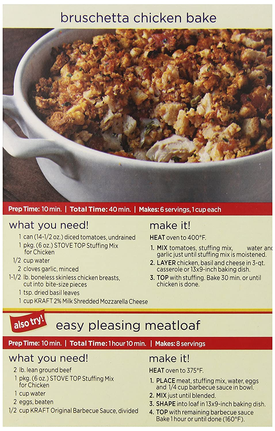 Amazon.com : Stove Top Stuffing Mix, Chicken, Twin Pack (Pack of 9) : Packaged Stuffing Side Dishes : Grocery & Gourmet Food