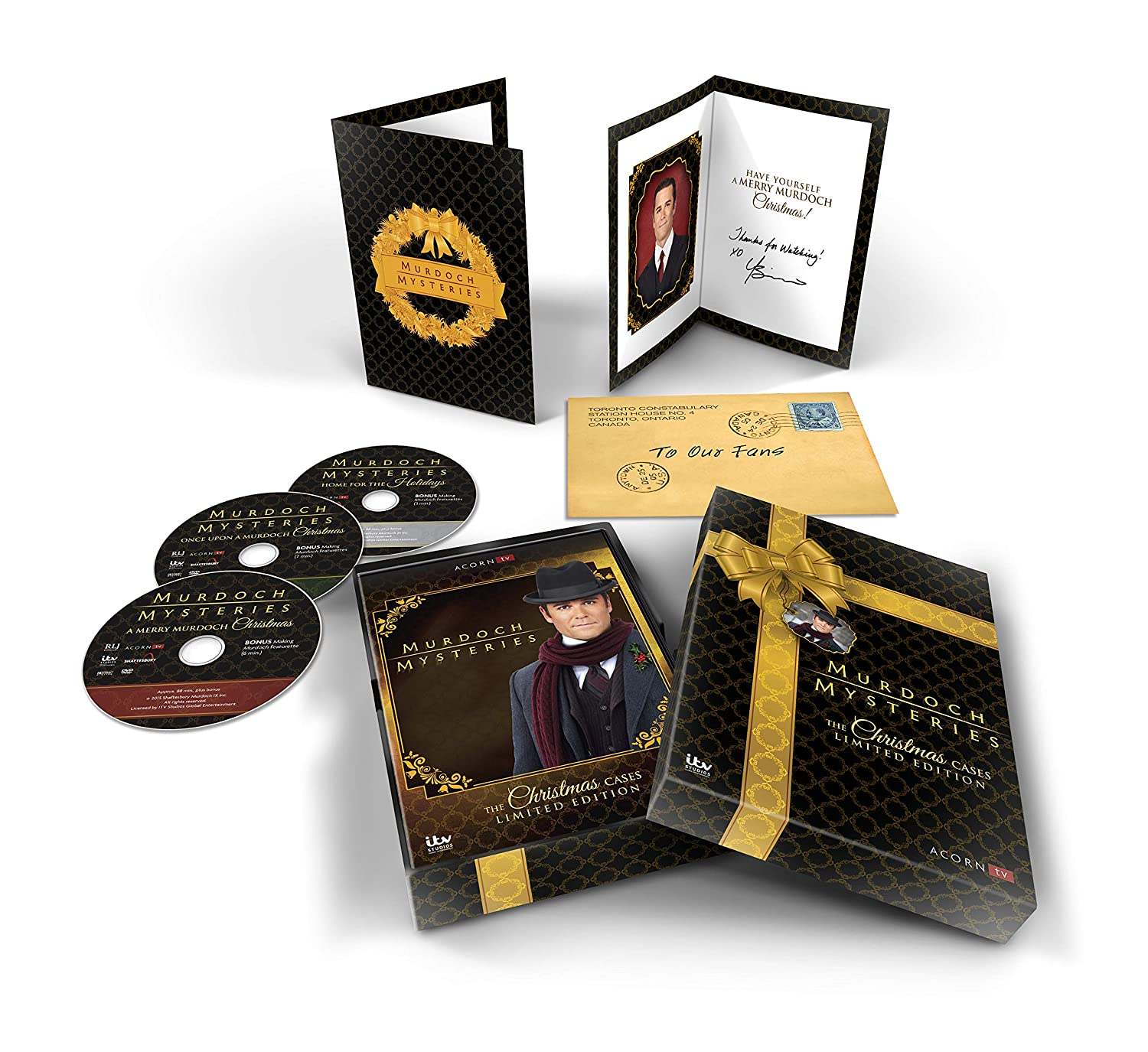 Amazon Murdoch Mysteries Christmas Cases Collection Yannick Bisson Movies & TV
