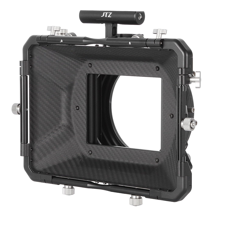 JTZ DP30 Cine Carbon Fiber 4x4 Swing-Away Matte Box with 15mm//19mm Rod Rail Rig and Top Handle for Sony FS5 FS7 ARRI RED Canon C100 C200 C300 BM D Blackmagic BMPCC BMCC Pocket Cinema Panasonic Camera