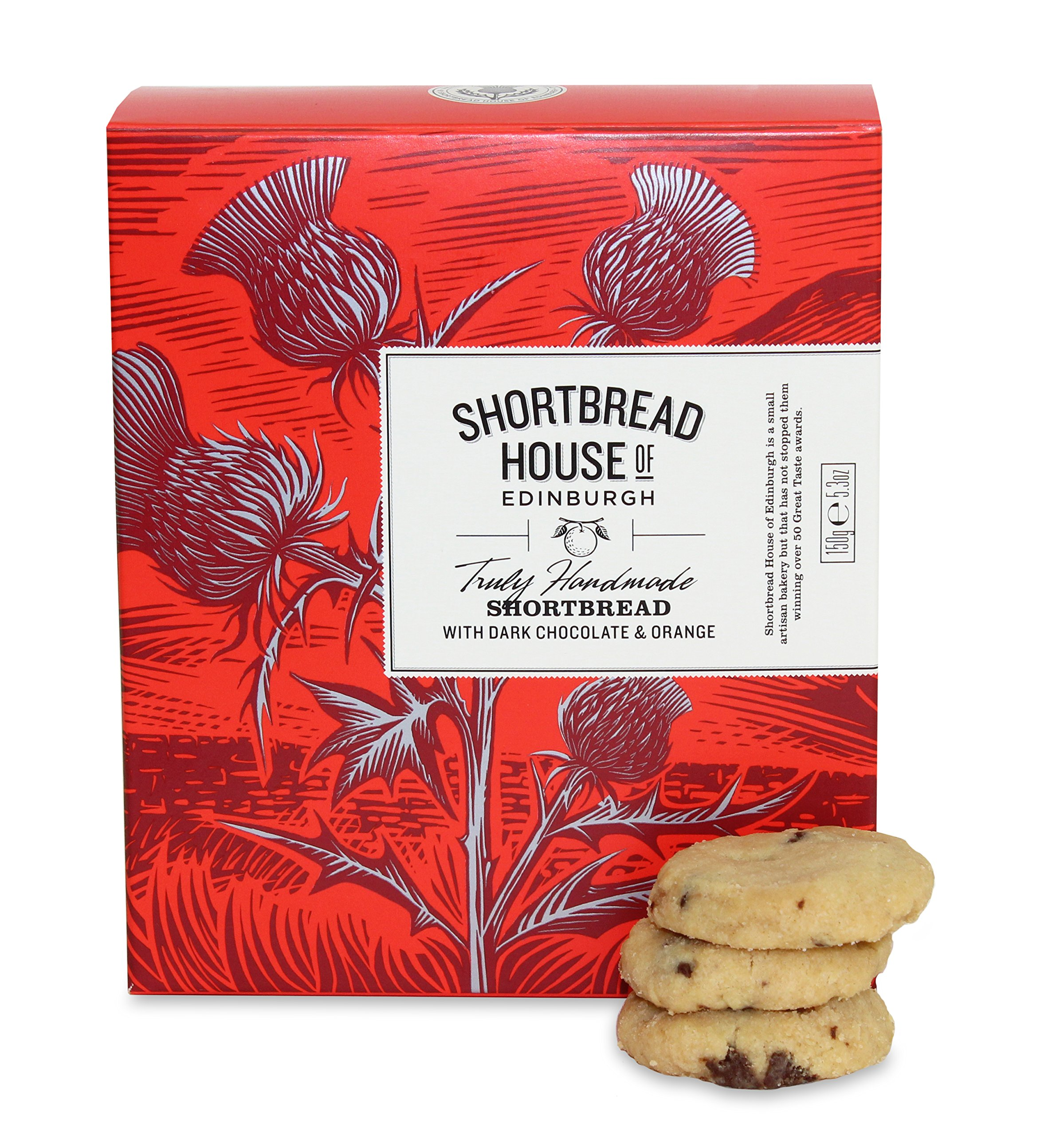 Shortbread House Dark Chocolate & Orange Mini Box 150g by Shortbread House of Edinburgh