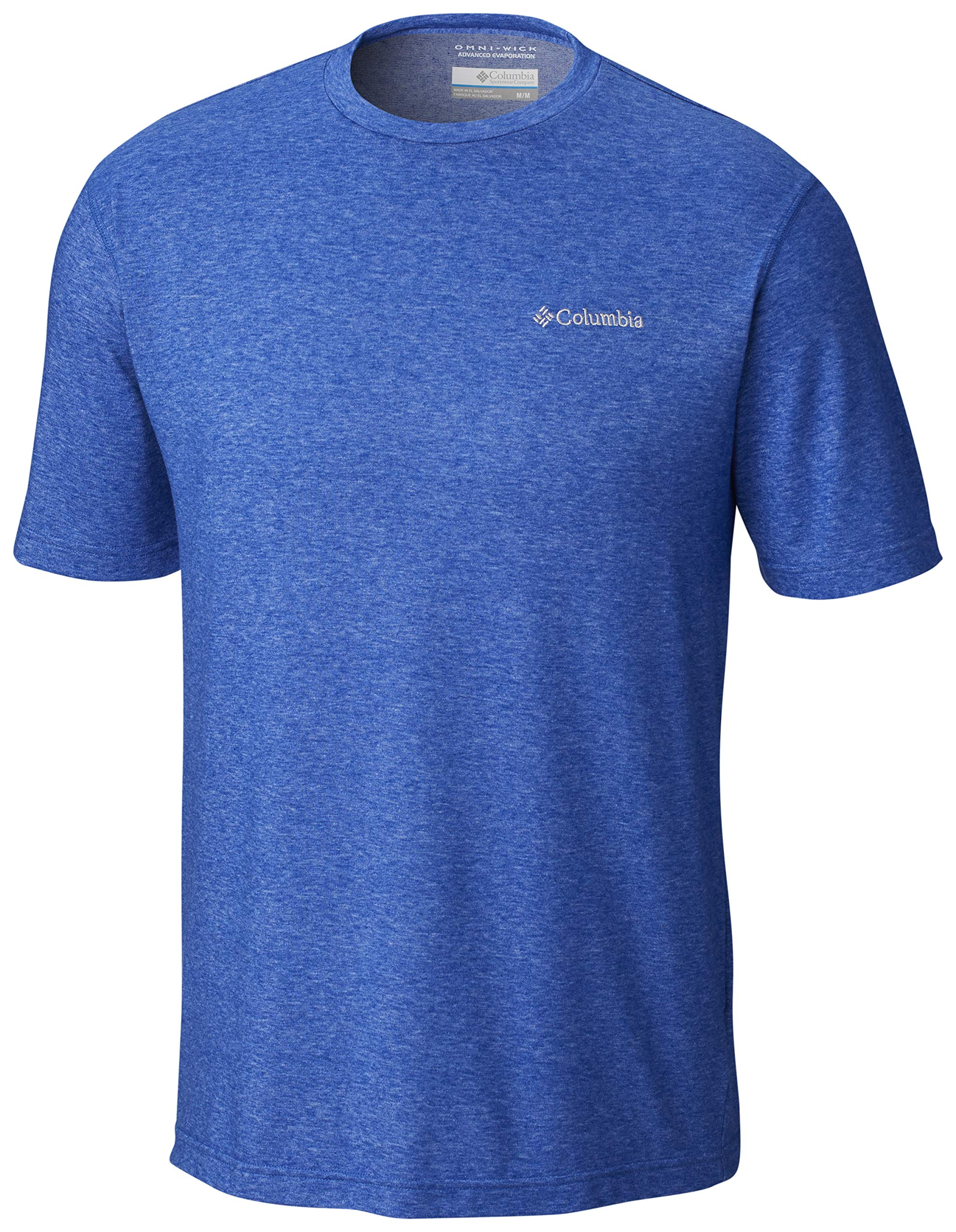 Columbia Men's Thistletown Park Crew, Sun Protection, Breathable, blue, Azul Heather