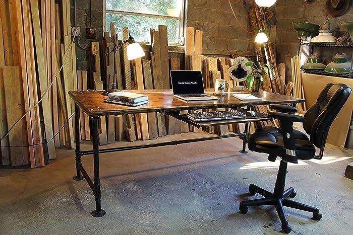 Amazon Industrial Pipe Desk Handmade