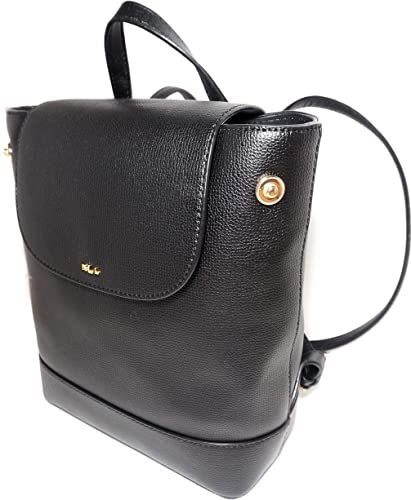 Lauren Ralph Lauren 100 Cow Leather Small Backpack Black