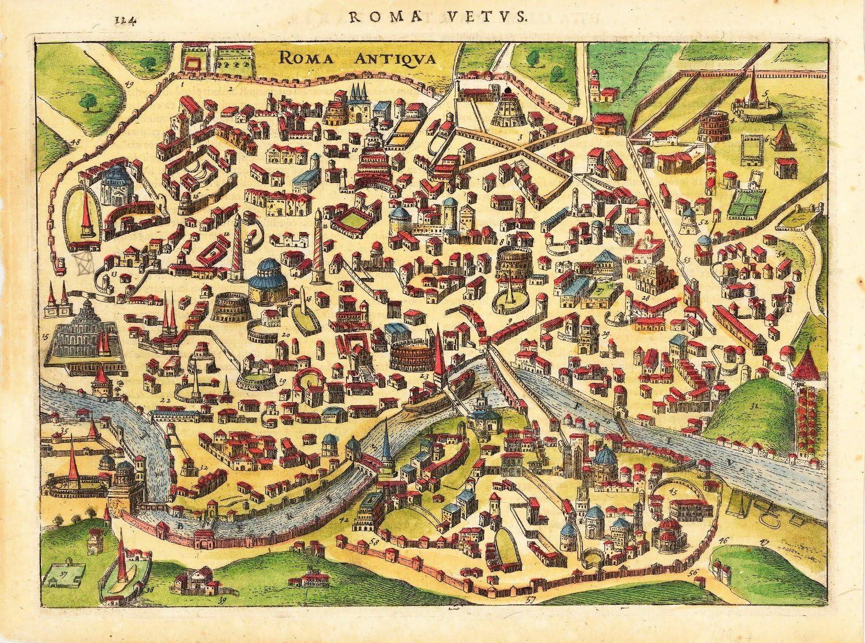 Cartina Citta Roma.Poster Mappa Antica Roma Cm 50 X 70 Amazon It Casa E Cucina