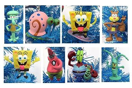 Amazon.com: Unique SpongeBob SquarePants 8 Piece Holiday Christmas ...