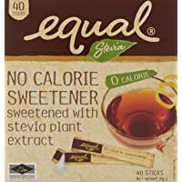 Equal Stevia Sweetener Stick 40 Sachets, 80 g