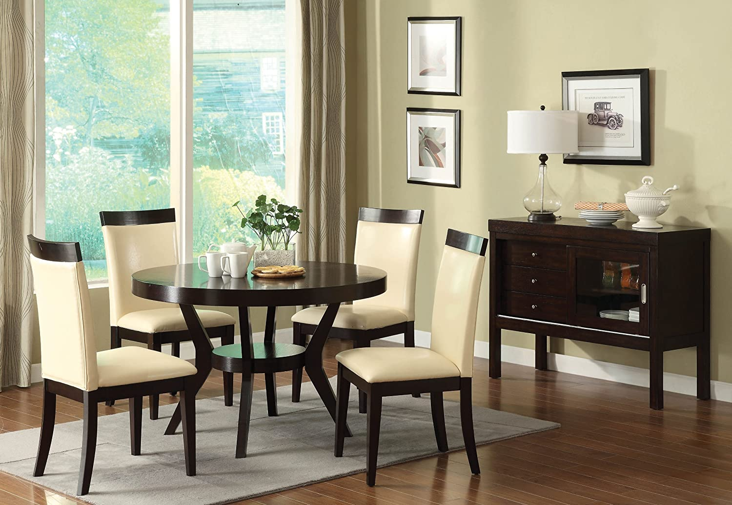Amazoncom Furniture of America Galore 5 Piece Round Table