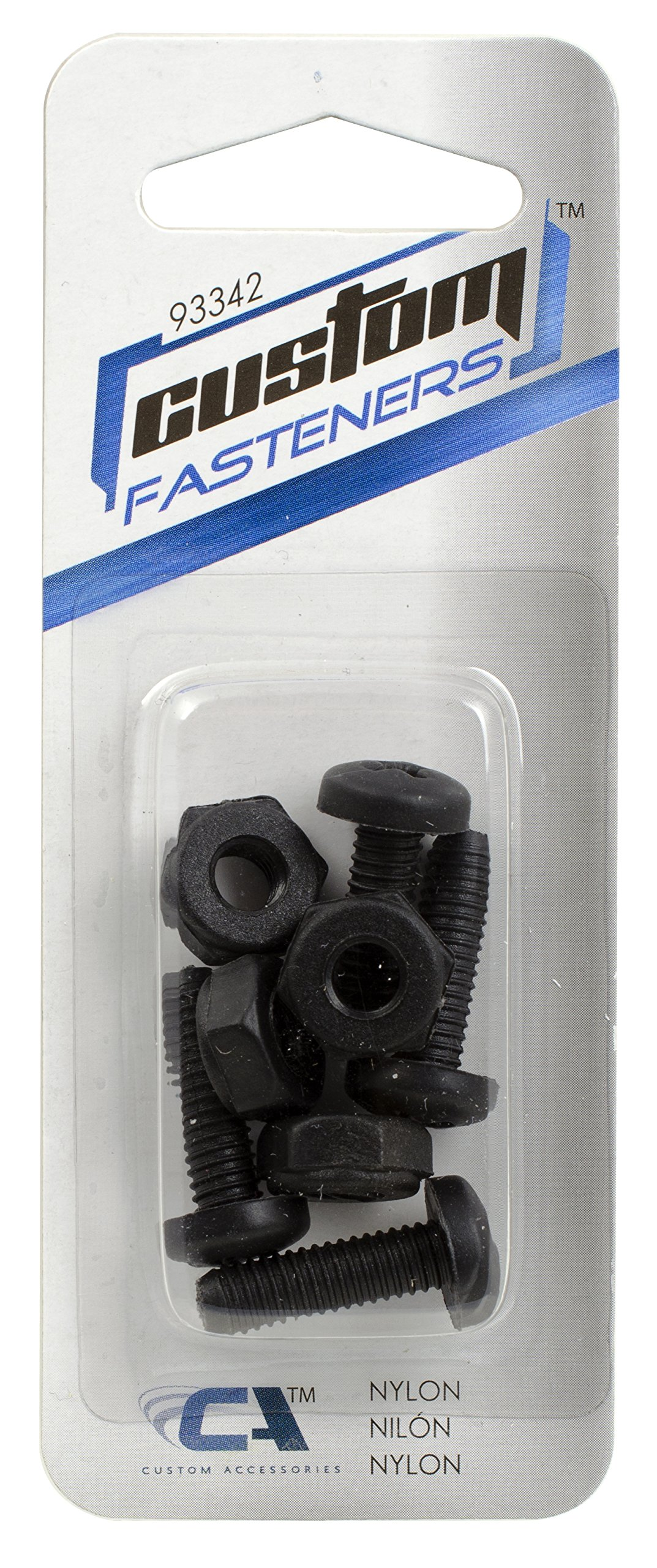 Custom Accessories 93342 Black Nylon License Plate Fastener by Custom Accessories (Image #1)