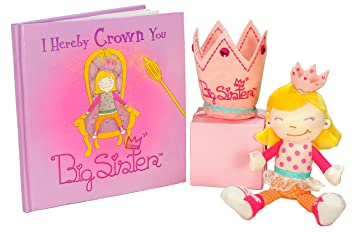 Big Sister Gift Set- I Hereby Crown You Big Sister Book, Doll, and ...
