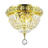 Worldwide Lighting Empire Collection 3 Light Gold