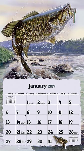 Fishing Calendar January 2019 Amazon.: The LANG Companies Big Catch 2019 Wall Calendar