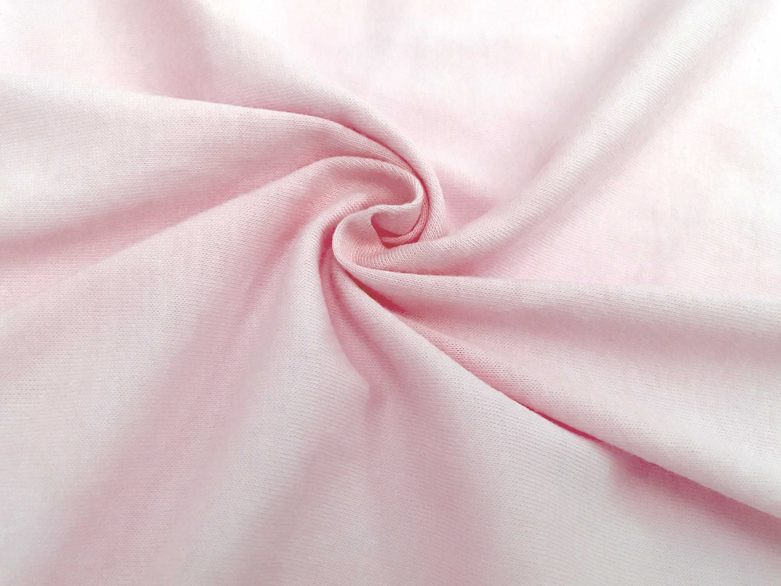 American Baby Company 100% Natural Cotton Value Jersey Knit Fitted Portable/Mini-Crib Sheet, Pink, Soft Breathable, for Girls, Pack of 1