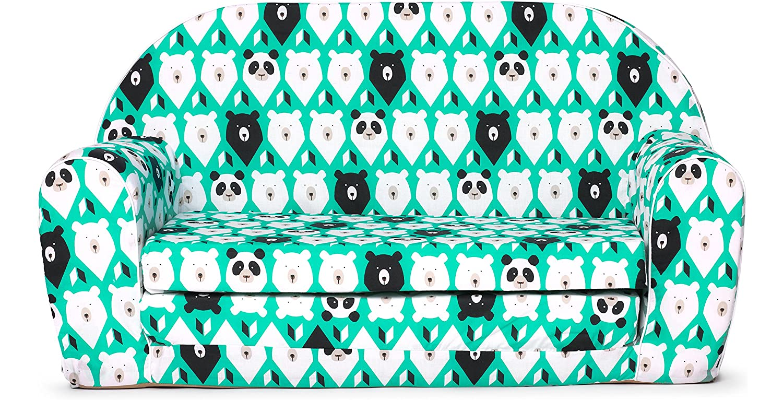 Ladeheid Kindersofa Kindercouch Kindercouch Kindercouch Bettfunktion LATE1004 (Türkis/Bären, 170 x 100 x 60 cm) 8f9af1