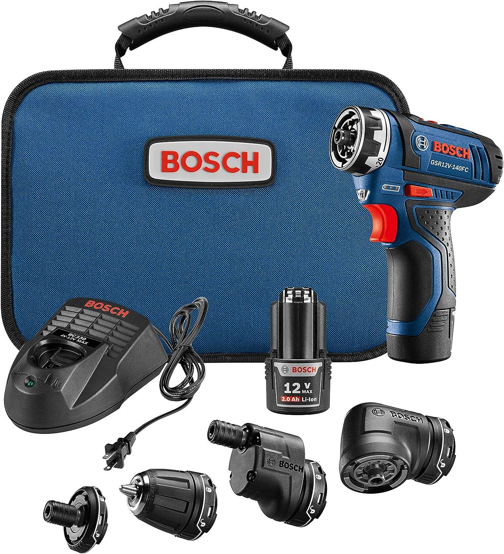 Sistema de taladro/atornillador Bosch GSR12V 140fcb22 12V, max Flexiclick 5 en 1