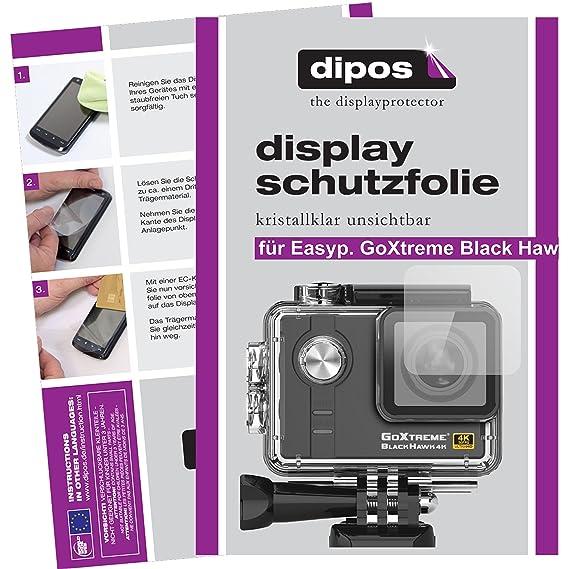 dipos I 6X Schutzfolie matt passend für Easypix GoXtreme Black Hawk 4K Ultra HD Folie Displayschutzfolie