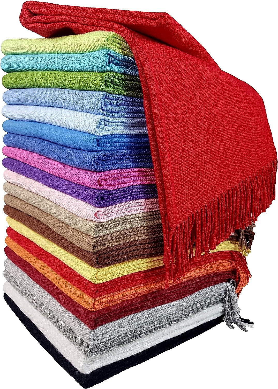 Coton Beige 130 x 170 cm STTS International Rio Couverture en Coton 100/% Coton 130 x 170 cm