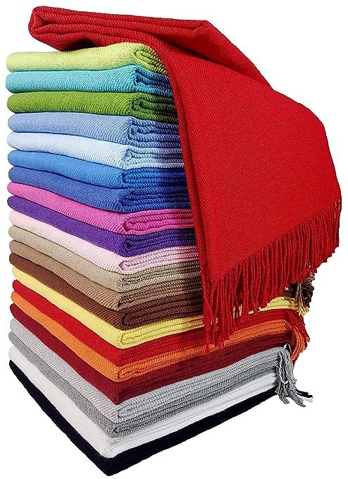 Plaid algodón/manta de algodón/colcha/130 cm x 170 cm/100% algodón ...
