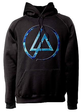 LaMAGLIERIA Sudadera Unisex Linkin Park Futuristic Logo - Sudadera con Capucha Nu Metal Rock Band: Amazon.es: Ropa y accesorios