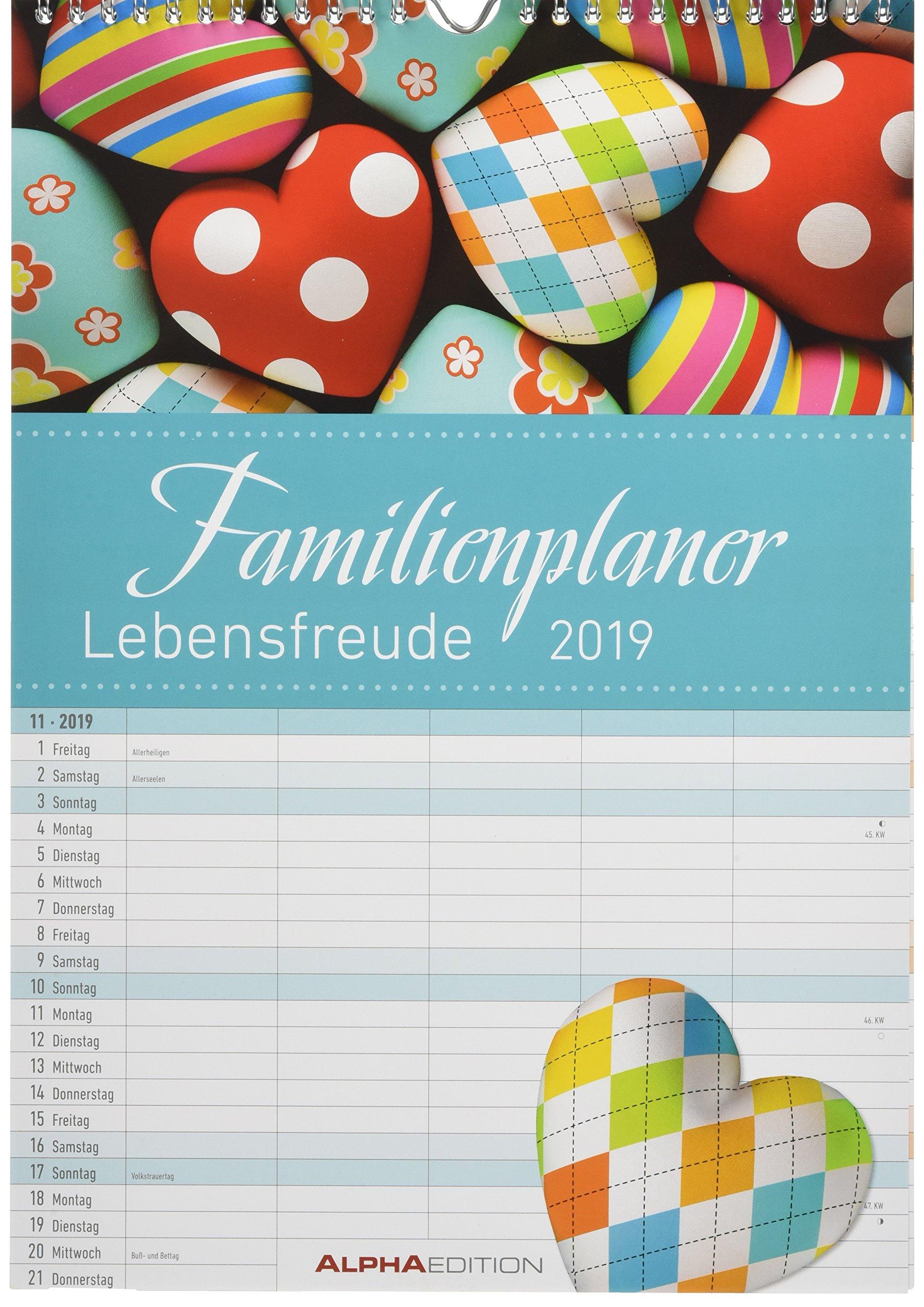 Familienplaner Lebensfreude 2019 - Bildkalender
