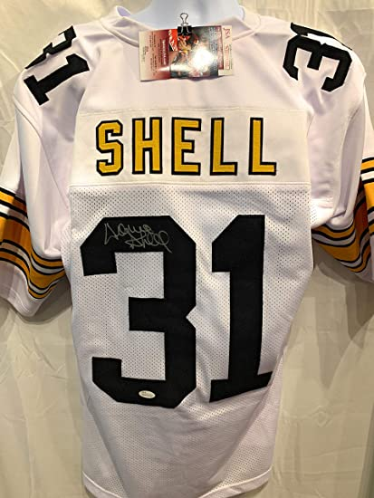 769c64cc4 Donnie Shell Pittsburgh Steelers Signed Autograph White Custom Jersey JSA  Witnessed Certified