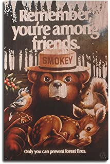 amazon com smokey bear reading book to cubs vintage poster