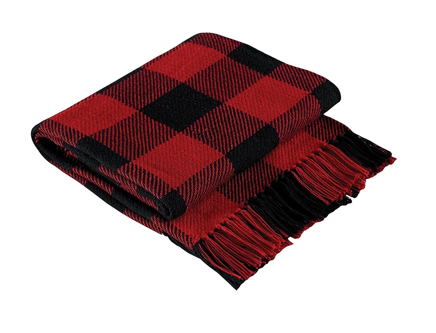 amazoncom park designs buffalo check throw blanket home  kitchen -