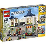 LEGO Creator 31036 Toy and Grocery Shop, 3-in-1 Building Toy Set (Toy Store, Grocery Shop, or Newspaper Stand / Post Office), 466 Pieces