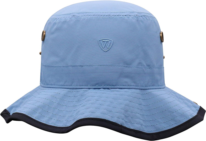 Shrunken Head Brand UNC Bucket Hat Boonie Dip Carolina Blue North Carolina Tar Heels Fan Shop Novelty Mens Bucket Hat