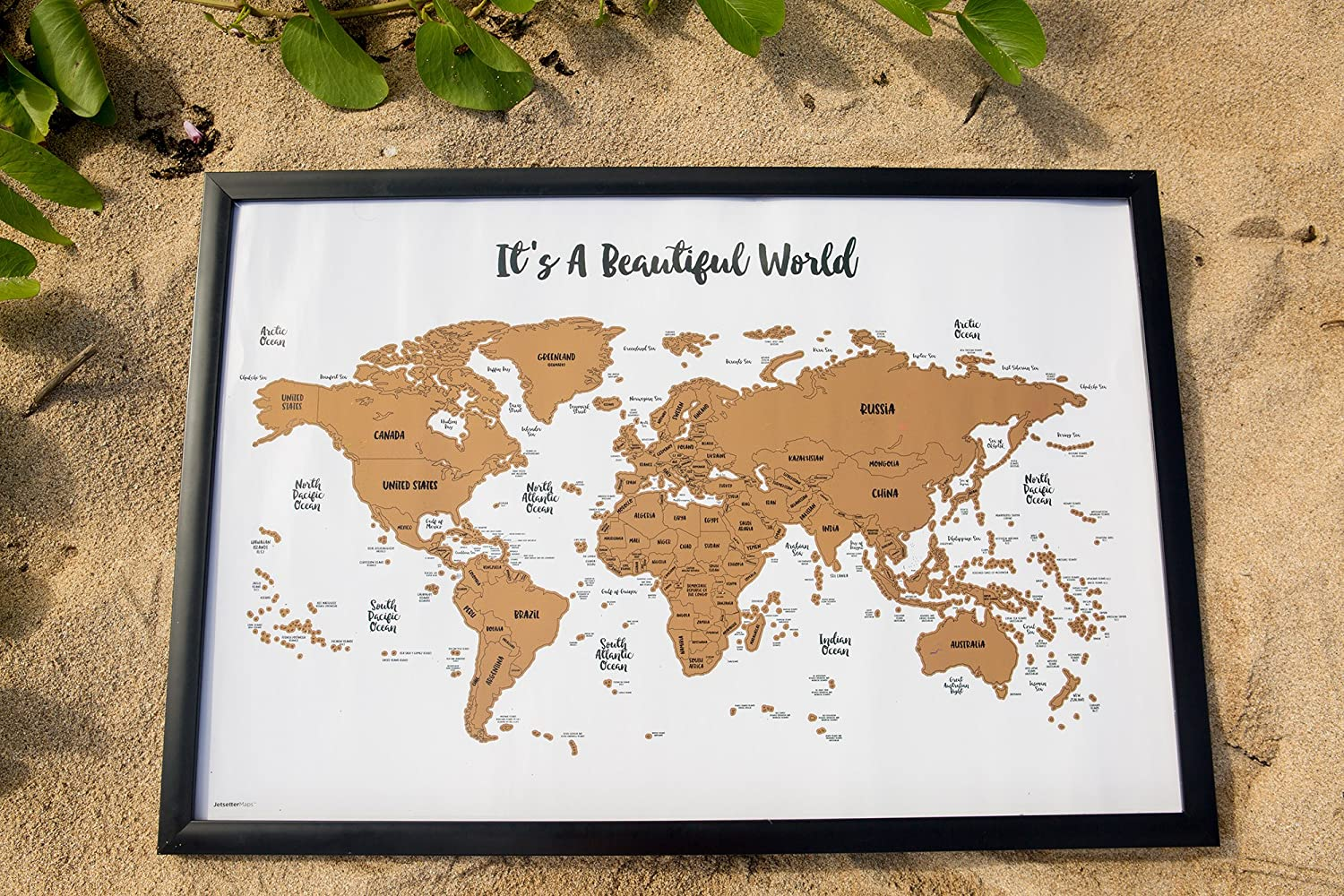 Jetsettermaps its a beautiful world scratch your travelstm jetsettermaps its a beautiful world scratch your travelstm world map 30x20in amazon home kitchen gumiabroncs Choice Image