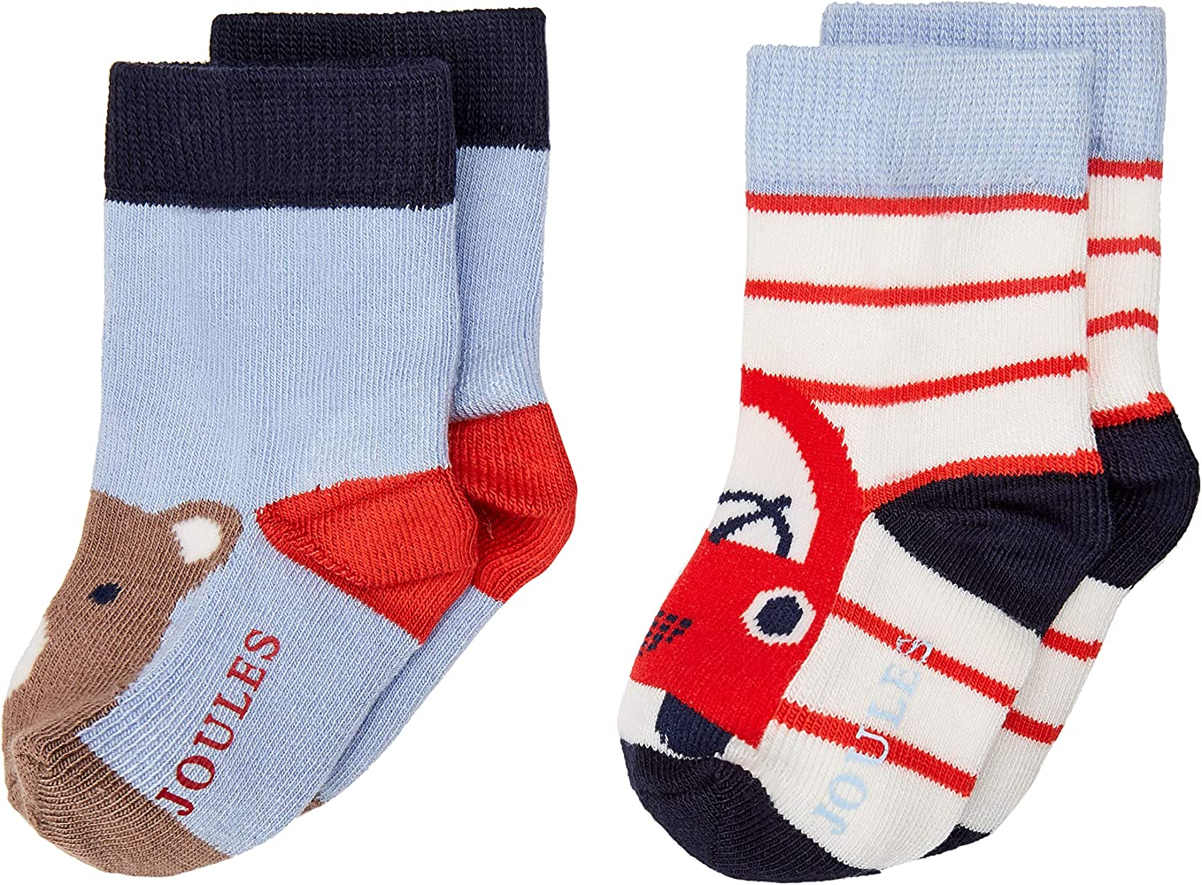 Joules Neat Feet Calcetines, (Multi Charcoal Bear Mltcarbear ...
