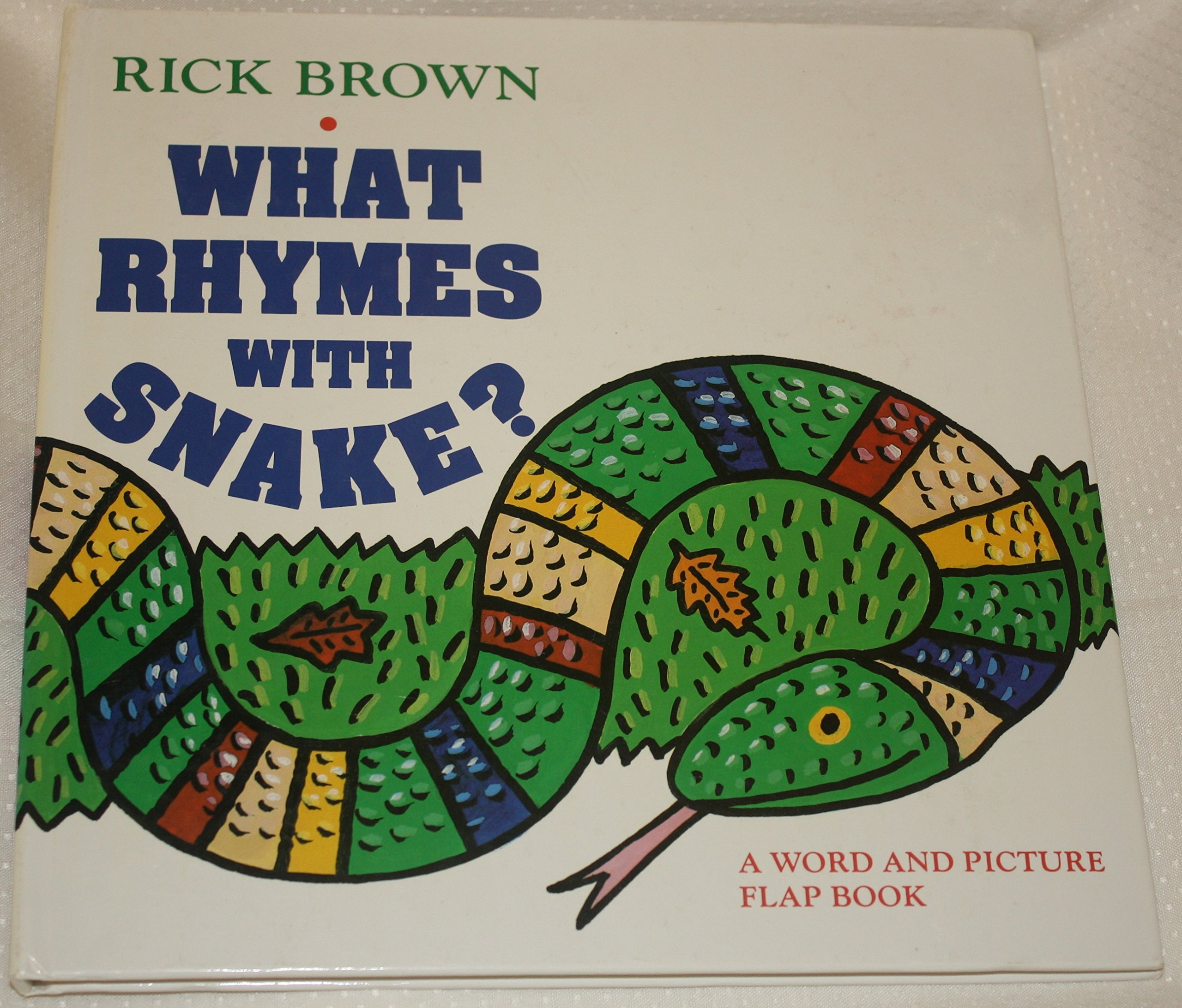What Rhymes With Snake?: A Word and Picture Flap Book: Rick Brown ...