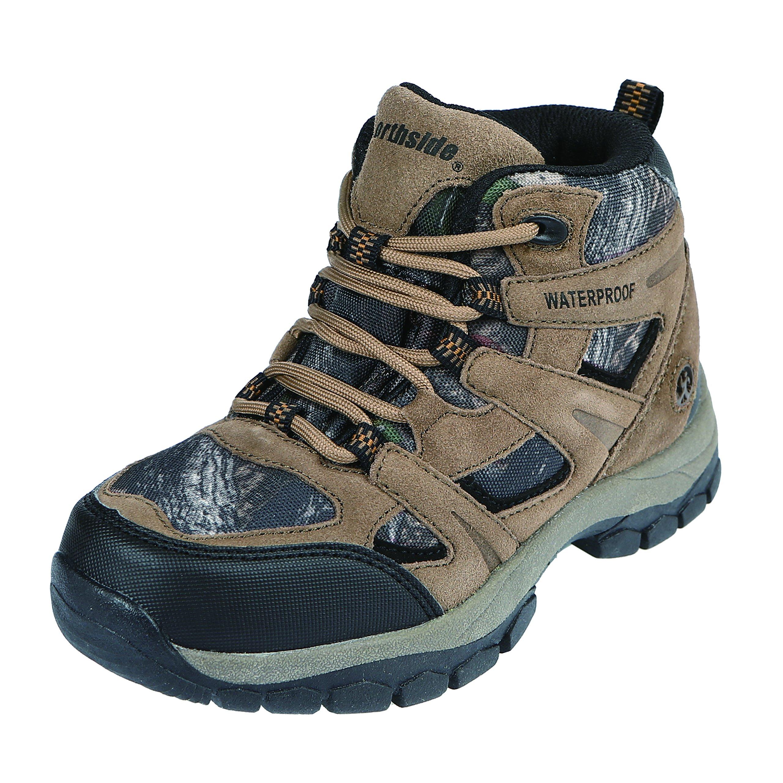 Northside Bismarck Junior Hiking Boot, Brown Camo, 5 M US Big Kid