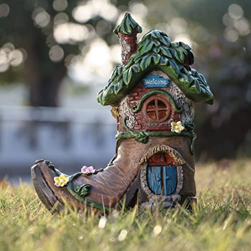 TERESA'S COLLECTIONS 8.5 Inch Fairy House Garden Statues