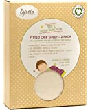 Organic Pack n Play - Portable mini crib sheet 2 Pack, 100% GOTS Certified Organic Dye Free Jersey Cotton Knit Natural Color for Baby Girl or Baby Boy by Ely's & Co.