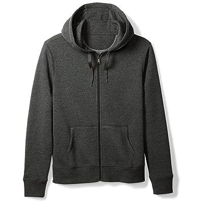 Essentials Men's Full-Zip Hooded Fleece Sweatshirt: Clothing