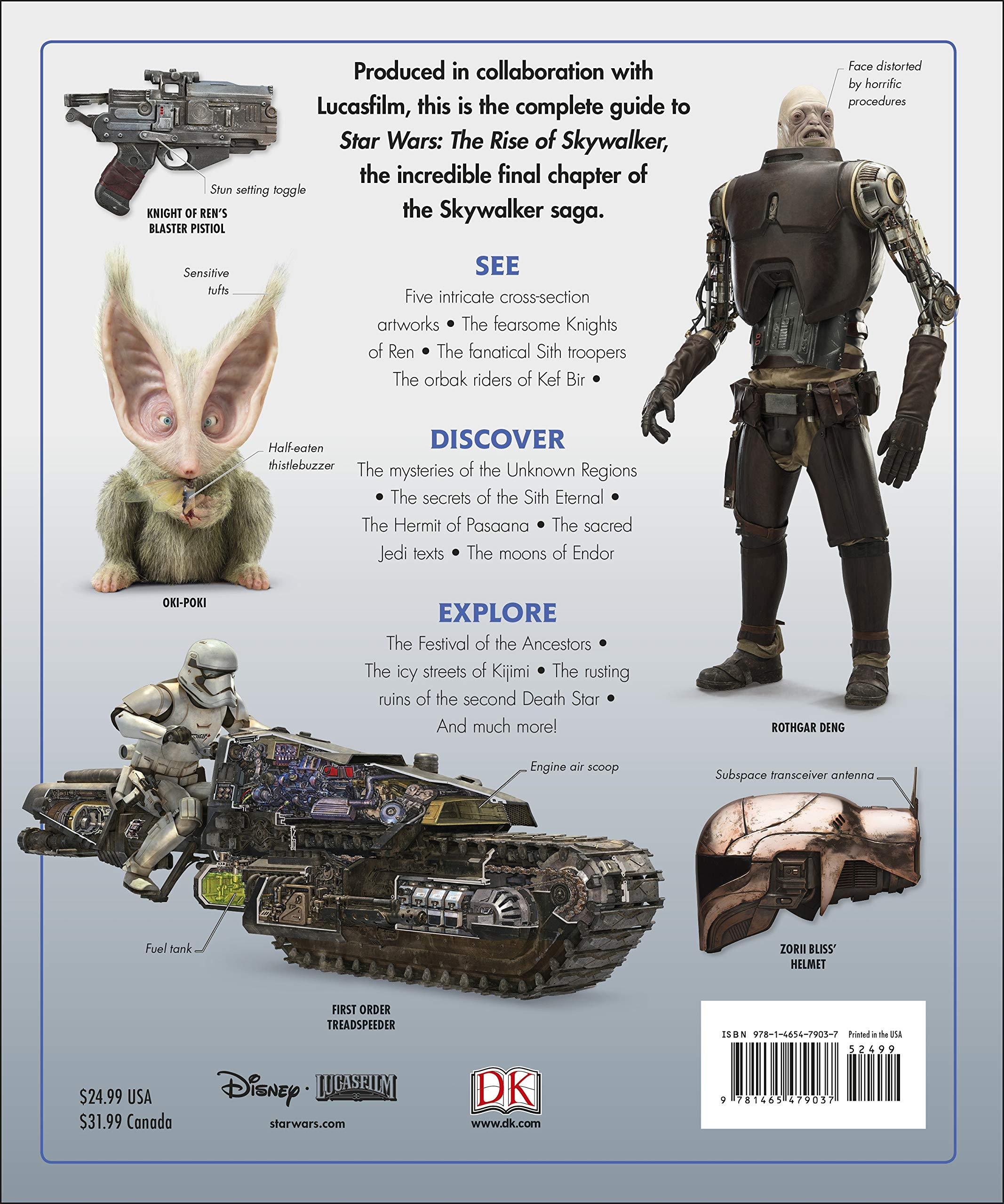 Star Wars The Rise Of Skywalker The Visual Dictionary With Exclusive Cross Sections Hidalgo Pablo Terrio Chris 9781465479037 Amazon Com Books