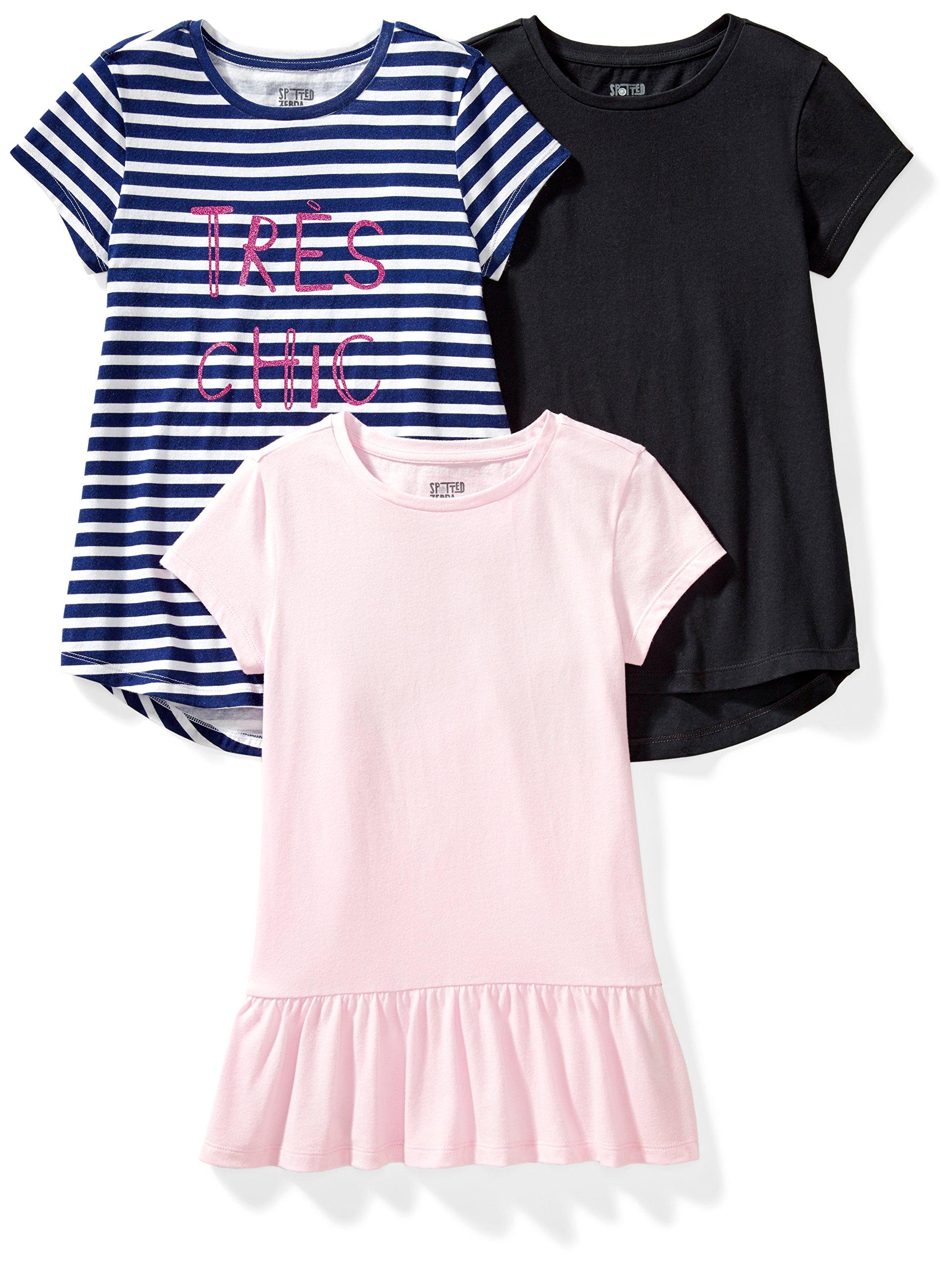 Brand Spotted Zebra Girls Short-Sleeve Flutter T-Shirts