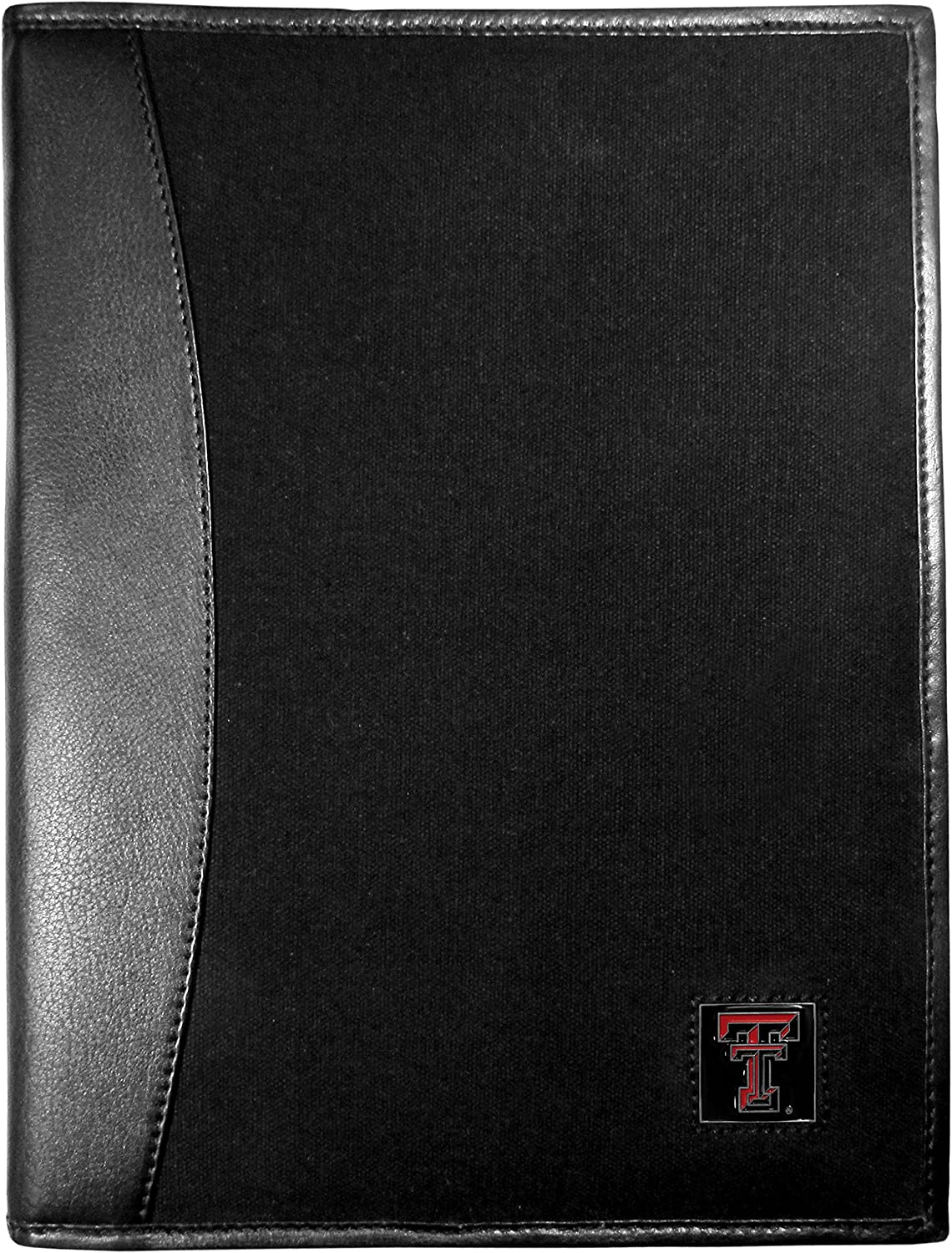 NCAA OFFicial site Texas Tech Red Raiders Super Special SALE held and Black Padfolio Canvas Leather