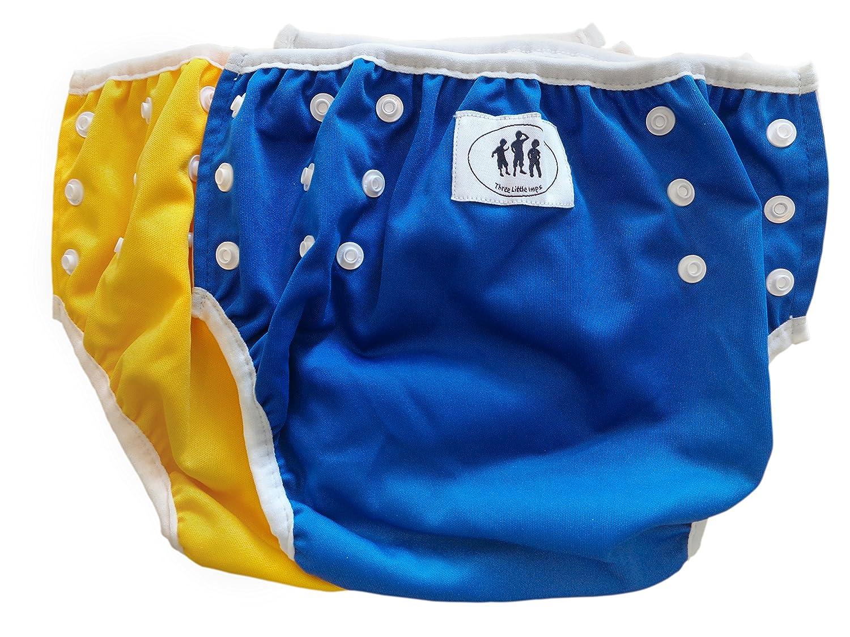 Set di 2 costumini Three Little Imps per bimbi da 1 a 2 anni - colore verde, blu o giallo