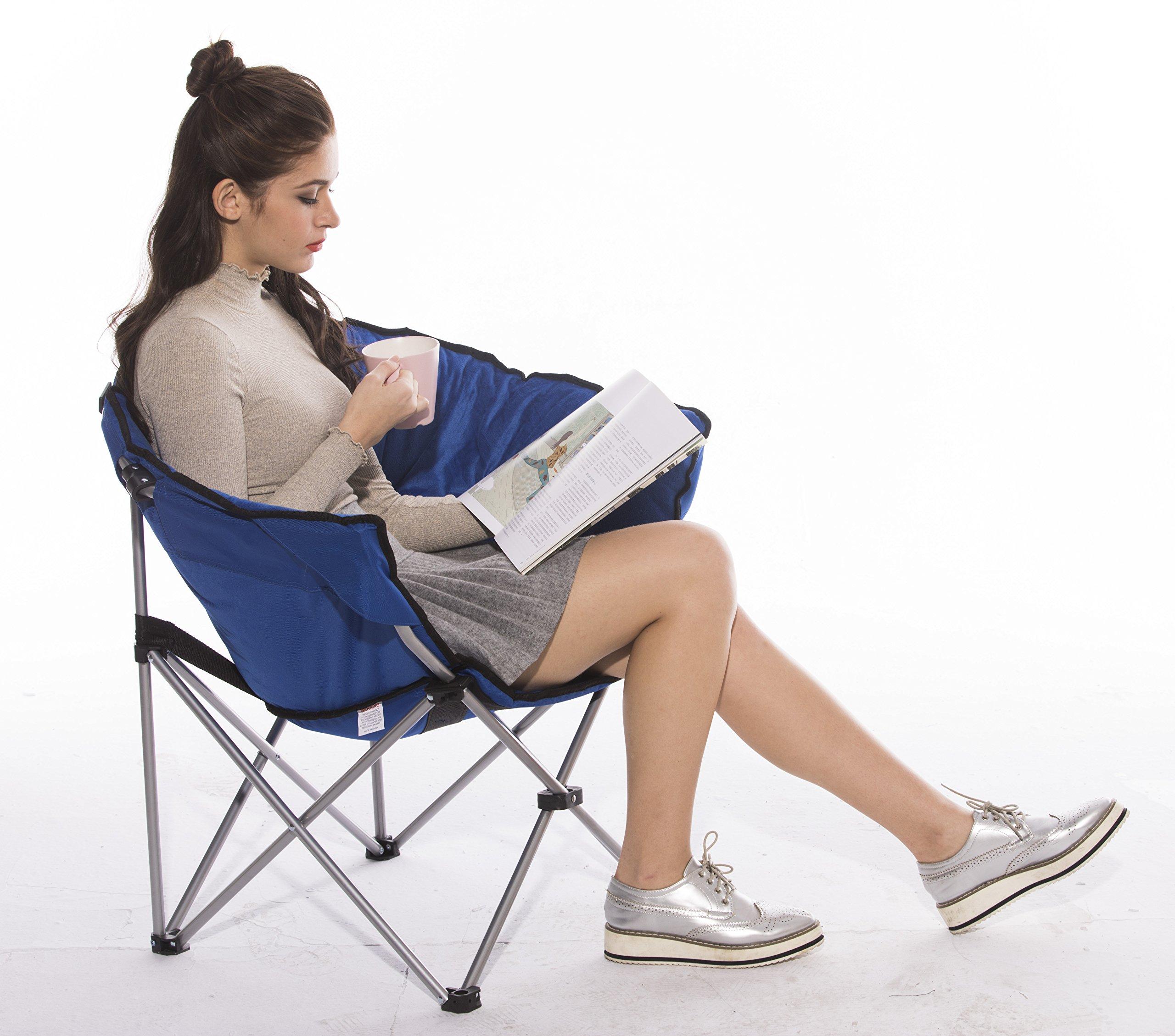 GOJOOASIS Foldable Moon Saucer Chair Club Seat for TV Living Room Dorm