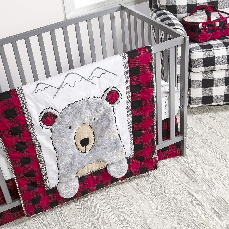 Trend Lab Lumberjack Moose Baby Nursery Crib Bedding CHOOSE FROM 3 /& 4 Piece Set