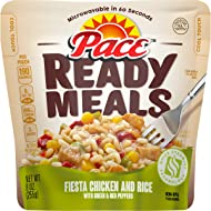 Pace Ready Meals, Fiesta Chicken and Rice With Green and Red Peppers, 9 Ounce (4 Pack)