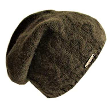8f3fa2ba87d Frost Hats Luxurious Cashmere Slouchy Cable Beanie CSH-735 (Army Green)