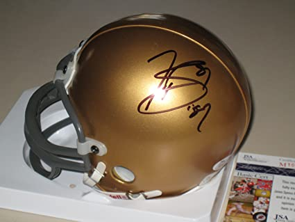 866a729ed48 Image Unavailable. Image not available for. Color  Tim Brown Autographed  Notre Dame Mini Helmet ...
