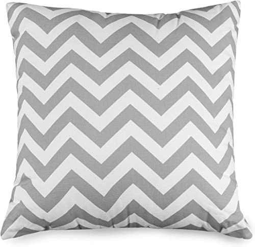 Majestic Home Goods Pillow, X-Large, Chevron, Gray