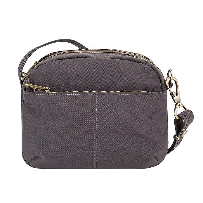 Travelon Anti-Theft Signature East/West Shoulder Bag  9u0022 x 7u0022 x 3u0022