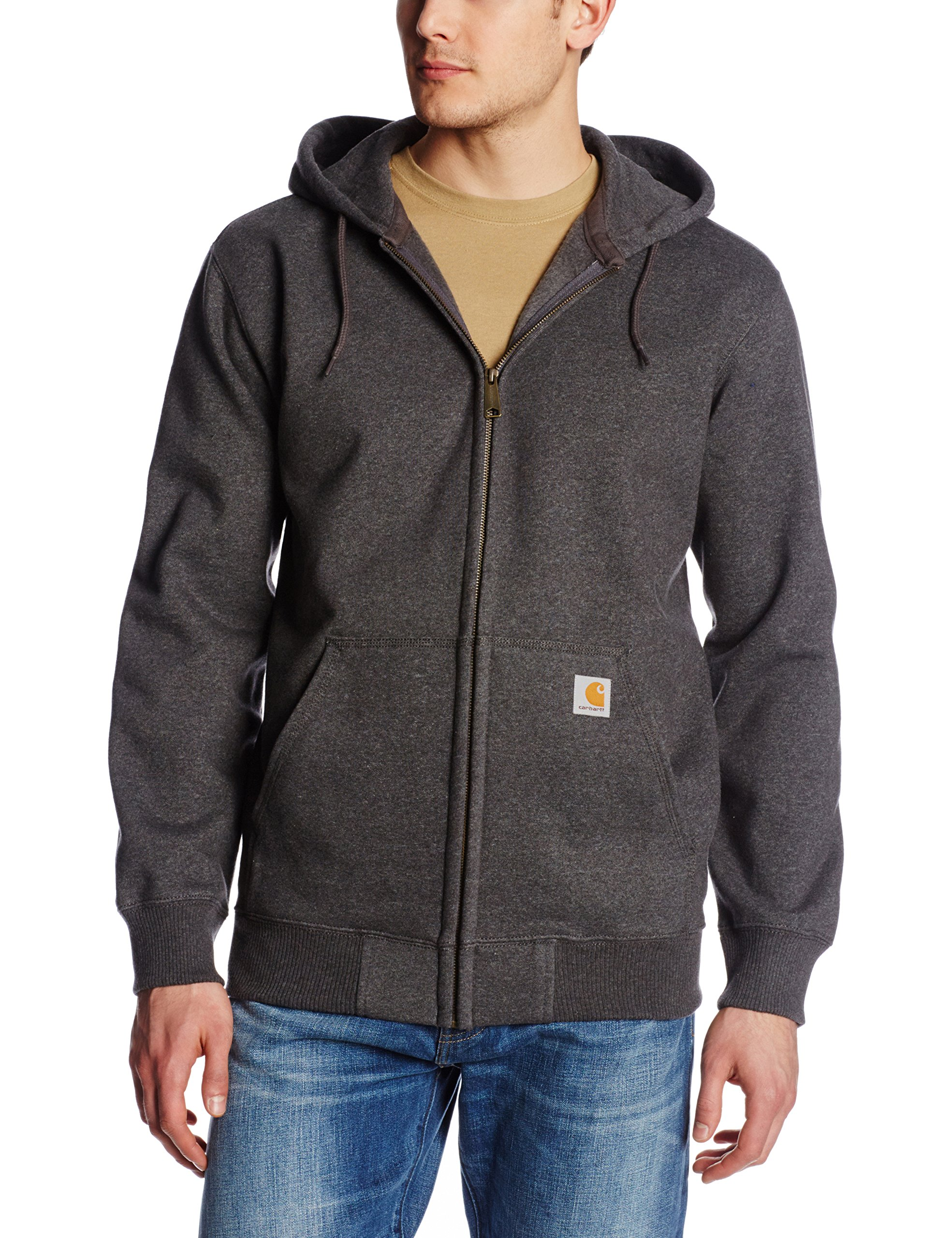 Carhartt Men's Rain Defender Paxton Heavyweight Hooded Sweatshirt, Carbon Heather, X-Large by Carhartt